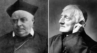"Ambrose St John, left, and Cardinal Newman (picture taken from ""Nihil Obstat"")"