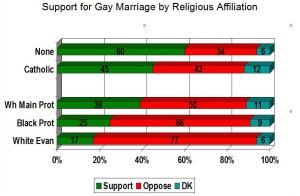 Support for gay marriage